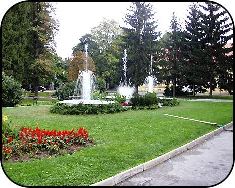 Holiday atmosphere of the Varazdin city park